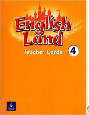 English Land 4 : Teacher Cards