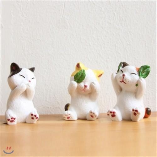 개구쟁이 고양이 미니어처 오너먼트 3P SET LX17031 [0179627915]