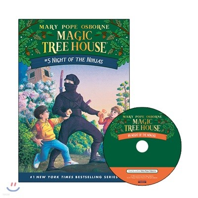 Magic Tree House #5 : Night of the Ninjas (Book + CD)