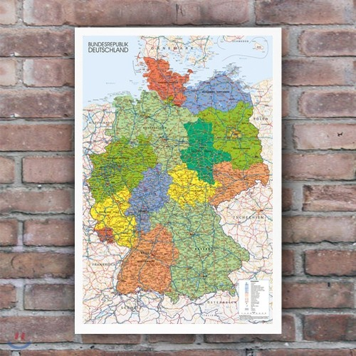 GN0750 독일지도_독일어 버전