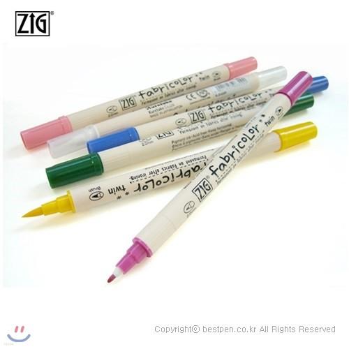 ZIG Fabricolor (직물마카) 트윈팁/(ZIG-TC-4000...