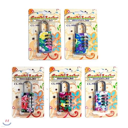 콤비락 꽃무늬열쇠(자물쇠)CL-900