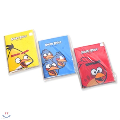 카라멜팝콘 2000앵그리버드-PVC커버수첩  앵그리버드수첩 게임 케릭