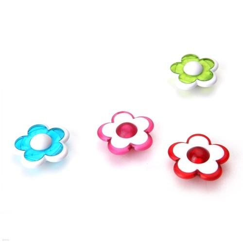 아트사인 꽃자석(4개입)  AF0003 (24x24x9mm) 색상임의