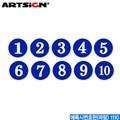 아트사인 에폭시번호판(파랑)  1110  에폭시번호판 문자판 호수판