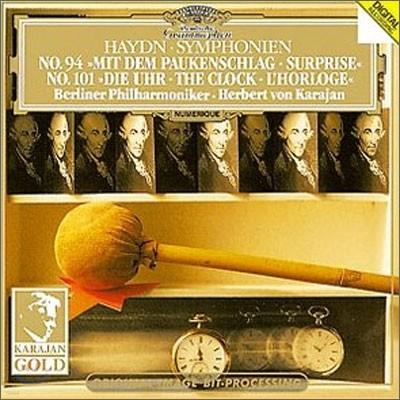 "Herbert von Karajan 하이든: 교향곡 94번 `놀람`, 101번 `시계` ( Haydn : Symphony No.94 "" Surprise""ㆍSymphony No. 101 ""The Clock"")"
