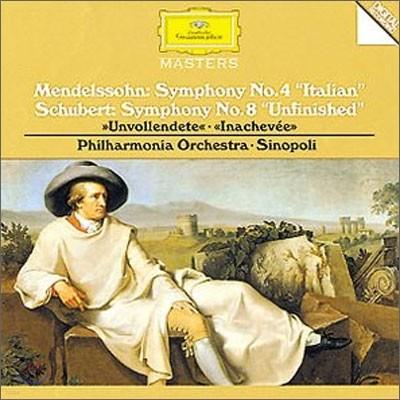 Giuseppe Sinopoli 슈베르트 : 교향곡 8 번 / 멘델스존 : 교향곡 4번 (Mendelssohn : Symphonie No.4 / Schubert : Symphonie No.8) 시노폴리