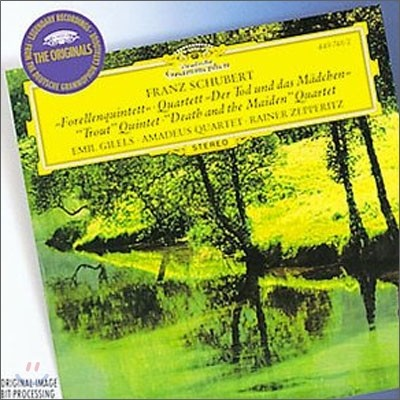 "Emil Gilels / Amadeus Quartet 슈베르트: 피아노 5중주 ""송어"", 현악 4중주 ""죽음과 소녀"" (Schubert: ""Trout"" Quintet, `Death and the Maiden`) 에밀 길렐스, 아마데우스 사중주단"