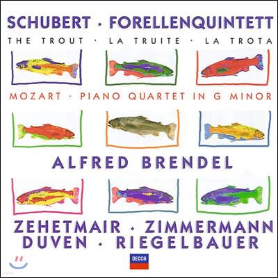 Alfred Brendel 슈베르트: 송어 오중주 / 모차르트 : 피아노 오중주 - 브렌델, 체헤트마이어, 침메르만 외