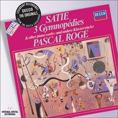 """Pascal Roge 에릭 사티 : 피아노 작품집 """"짐노페디, 그노시엔느"""" (Satie : Piano Music) 파스칼 로제"""