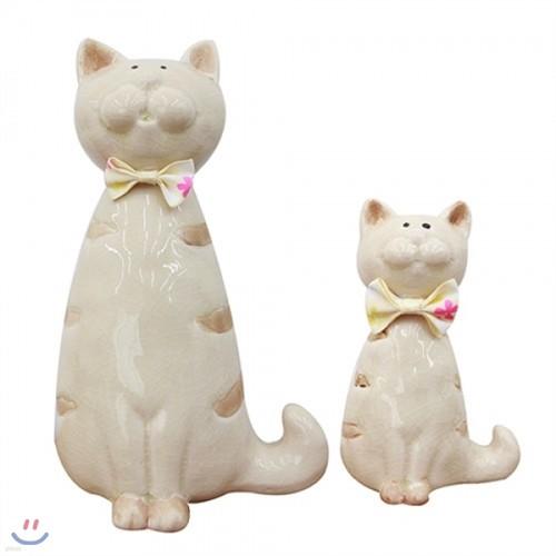 [자연과 사람] 서있는 고양이도자기 L