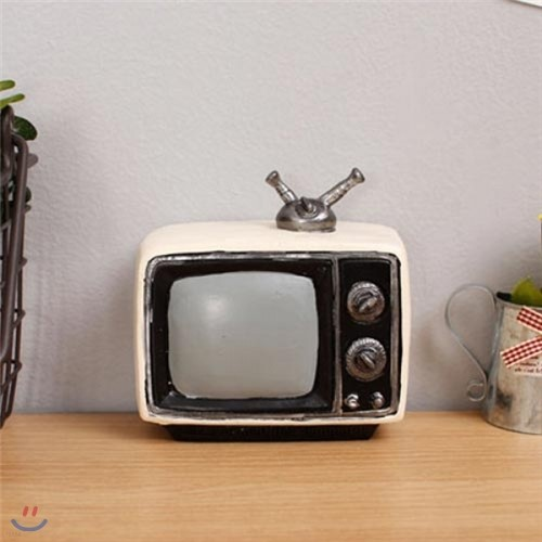 [2HOT] 엔틱 화이트 TV 미니어쳐