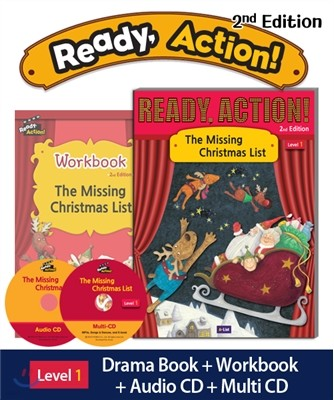 Ready Action Level 1 : The Missing Christmas List (SB+WB+Audio CD+Multi-CD)