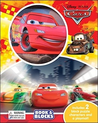 Disney Cars : Book And Blocks