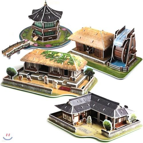 입체퍼즐 한국의 전통가옥시리즈 4종