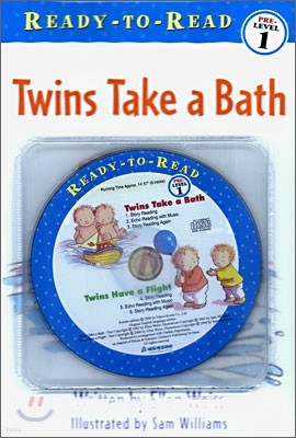 Ready-To-Read Pre-Level : Twins Take a Bath / Twins Have a Flight (2 Books+CD Set)