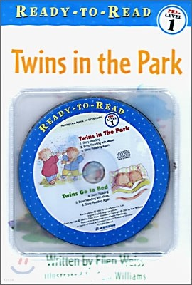 Ready-To-Read Pre-Level : Twins in the Park / Twins Go To Bed (2 Books+CD Set)