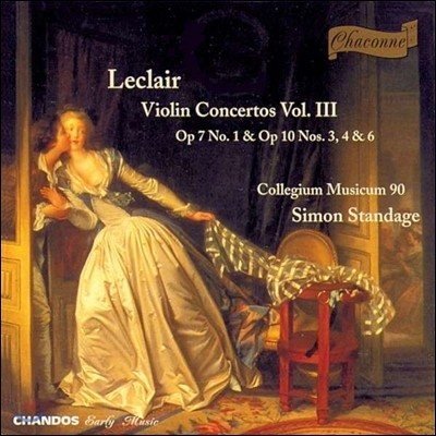 Collegium Musicum 90 장 마리 르클레르: 바이올린 협주곡 3집 (Jean Marie Leclair: Violin Concertos III)