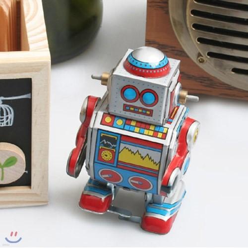 빈티지 태엽 복고 양철로봇