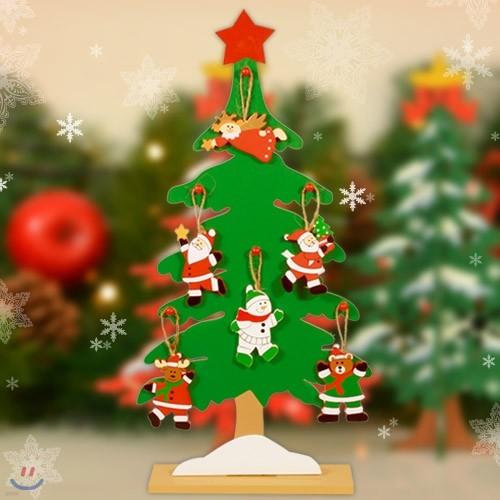 크리스마스를 위한 내 책상위 목각 메모리즈 트리 46cm