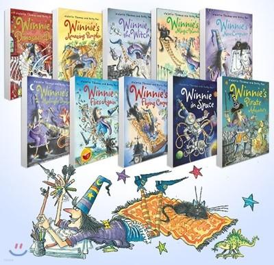 마녀 위니 챕터북 10권 세트 (컬러판 / MP3 CD 1장 포함) : Winnie the Witch 10 Books Collection Pack