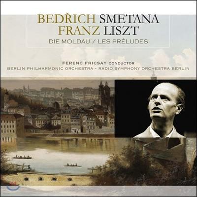 Ferenc Fricsay 스메타나: 몰다우 / 리스트: 전주곡, 교향시 3번 (Smetana: Die Moldau / Liszt: Les Preludes, Symphonic Poem No.3) [LP]