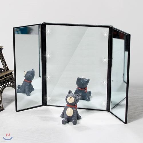 각도조절 휴대용 거울 LED STUDIO MIRROR