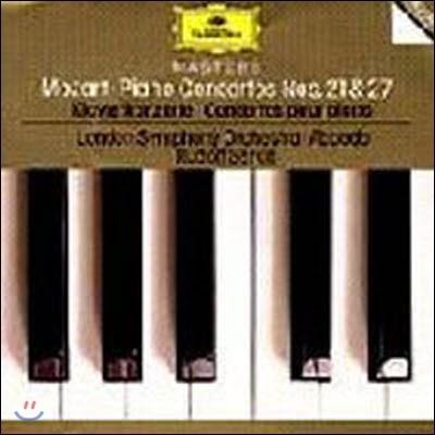 [중고] Rudolf Serkin, Claudio Abbado / Mozart : Piano Concertos No21.27 (dg3166/4455162)