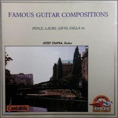 [중고] Jozef Zsapka / Famous Guitar Compositions (sxcd5147)