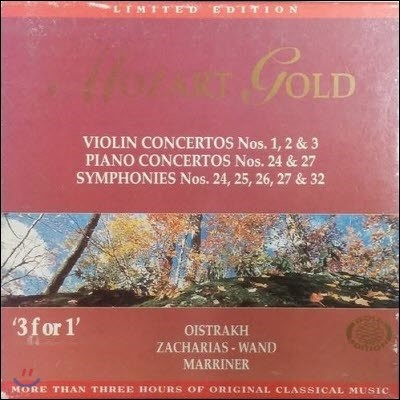 [중고] V.A. / Mozart Gold - Gold Edition 5 (3CD/ekcd0205)