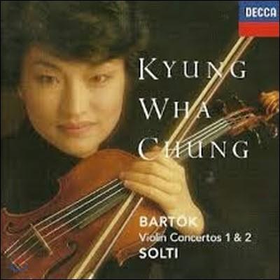 [중고] 정경화 (Kyung-Wha Chung), Sir Georg Solti / Bartok : Violin Concertos 1 & 2 (수입/4250152)
