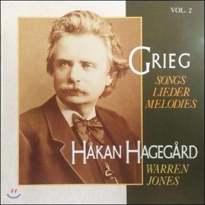 [중고] Hakan Hagegard, Warren Jones / Grieg : Songs Lieder Melodies Vol.2 (수입/09026616292)