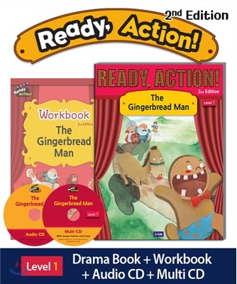 Ready Action Level 1: The Gingerbread Man (SB+WB+Audio CD+Multi-CD)