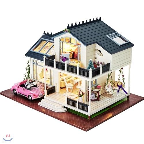 [adico] DIY 미니어처 풀하우스 - 프로방스 2층집