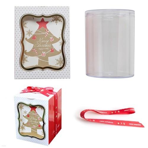 크리스마스 원통+팝업박스 포장세트 (1set)