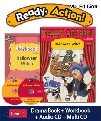 Ready Action Level 1: Halloween Witch (SB+WB+Audio CD+Multi-CD)