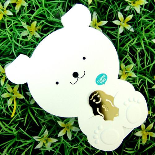 [책갈피 카드] 미니 곰돌이 북찌카드