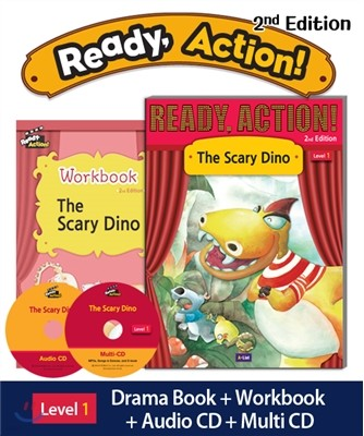 Ready Action Level 1 : The Scary Dino (SB+WB+Audio CD+Multi-CD)