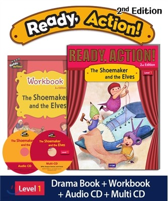 Ready Action Level 1 : The Shoemaker and the Elves (SB+WB+Audio CD+Multi-CD)