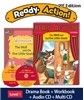 Ready Action Level 1 : The Wolf and the Five Little Goats (SB+WB+Audio CD+Multi-CD)