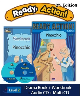 Ready Action Level 2 : Pinocchio (SB+WB+Audio CD+Multi-CD)