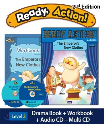 Ready Action Level 2 : The Emperor's New Clothes (SB+WB+Audio CD+Multi-CD)