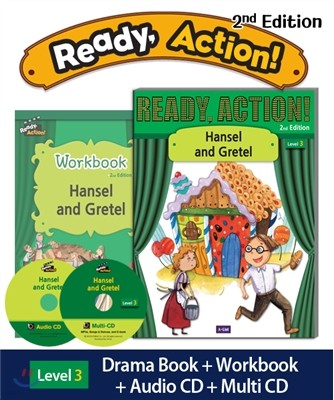 Ready Action Level 3 : Hansel and Gretel (SB+WB+Audio CD+Multi-CD)