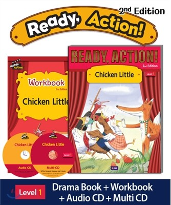 Ready Action Level 1 : Chicken Little (SB+WB+Audio CD+Multi-CD)