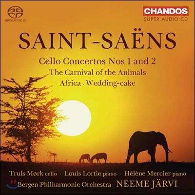 Neeme Jarvi / Truls Mork 생상스: 첼로 협주곡, 동물의 사육제 [피아노 협주곡 편성], (Saint-Saens: Cello Concertos, Le Carnaval des Animaux) 네메 예르비, 트룰스 뫼르크