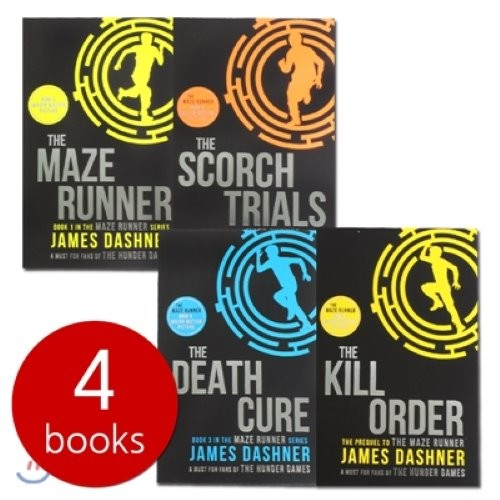 Maze Runner Trilogy Collection 4 Books Set