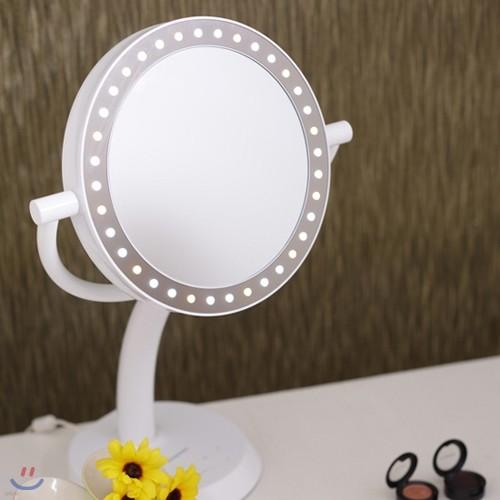다이아소닉 LED 양면화장거울 DL-100CH /3가지화장모드/모드별5단계밝기/USB충전/CRI 90이상/국내생산