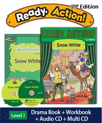 Ready Action Level 3 : Snow White (SB+WB+Audio CD+Multi-CD)