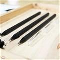 [천유] 블랙나무연칠+연필캡 세트 10개묶음