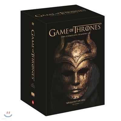 왕좌의 게임 시즌 1-5 박스 (25Disc) (아웃박스 한정판)